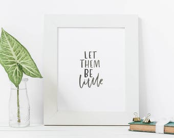 Hand Lettered Print | Be Little