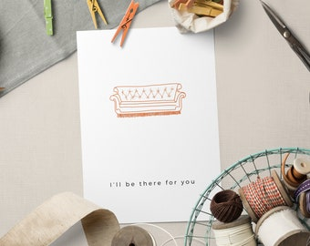 Encouragement Greeting Card || I'll Be There