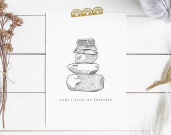 Hand Lettered Print | Ebenezer
