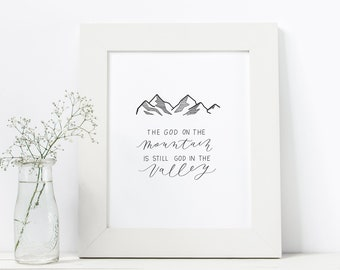 Hand Lettered Print | The Valley