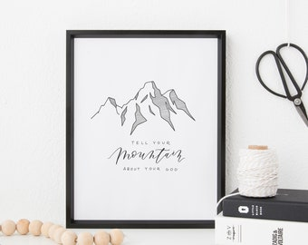 Hand Lettered Print | Mountain