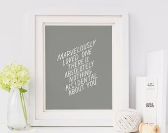 Hand Lettered Print | Marvelously Loved One