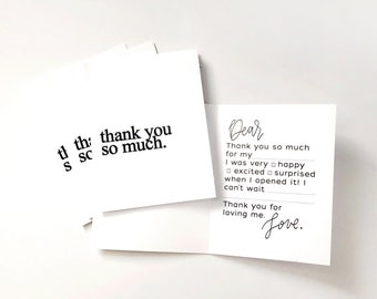 Guided Thank You Cards
