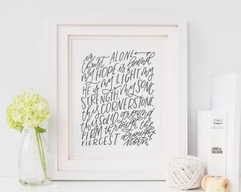 Hand Lettered Print | In Christ Alone