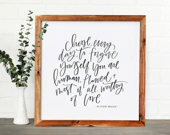 Choose Everyday || DWELL Sign