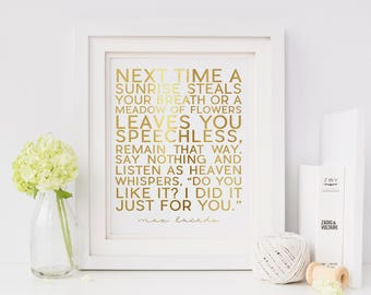 Sunrise || Max Lucado || Gold Foil Print