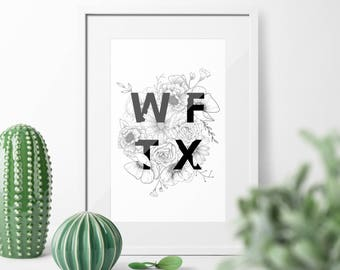 Illustrated Print || WFTX
