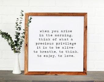 Arise || DWELL Sign