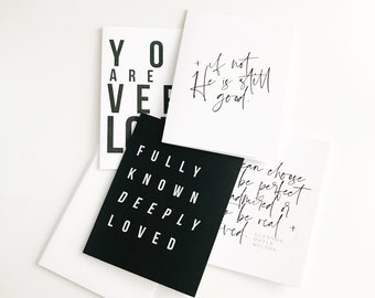 Encouragement Card Set || Monochromatic