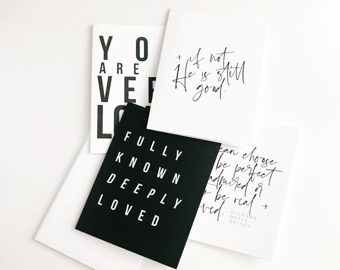 Featured listing image: Encouragement Card Set || Monochromatic
