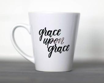 Grace || Hand Lettered Coffee Mug