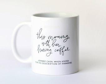Johnny Cash || Hand Lettered Coffee Mug