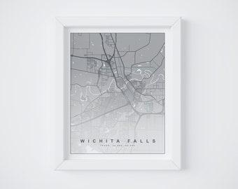 Wichita Falls || Map Print