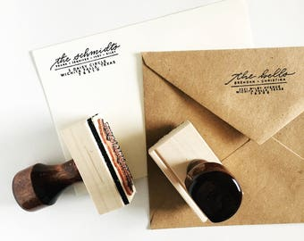 Custom Hand Lettered Address Stamp
