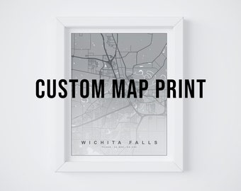 CUSTOM Map Print    8x10 Print