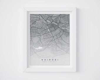 Nairobi || DIGITAL DOWNLOAD || Map Print