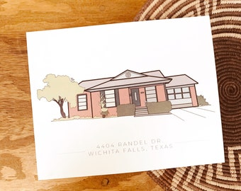 Custom Home Illustration || DIGITAL DOWNLOAD
