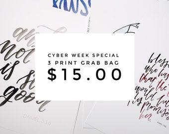 Cyber Week Special || 3 Print Grab Bag!
