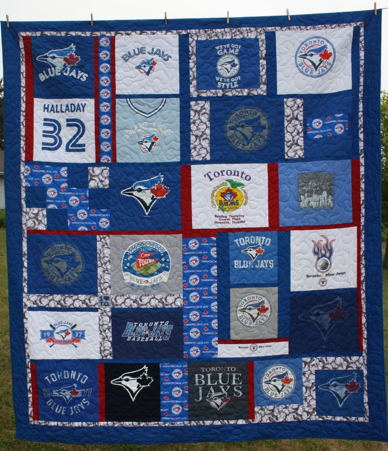 72e72cb813e44 Quilt Toronto Blue Jays MLB Baseball Sports Fan Vintage