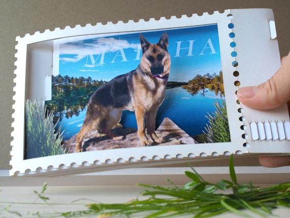 Personalised Word Art Print  Dog pet any breed alsation gift keepsake card