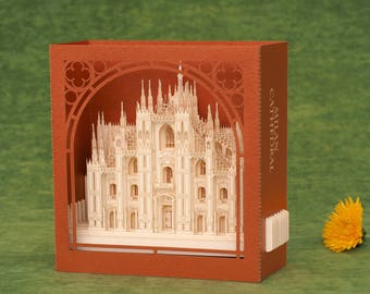 Valentine's Day Gift Card Valentine Gift Milan Italy I love Italy Travel with me Dumo Milano Cathedral Churches Architecture Best World Love