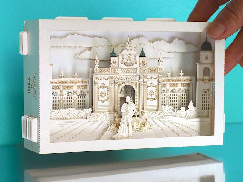 Custom Design Wedding Invitations Fernwood Garden Philippines Bride Groom Figures Architecture Model Pop Up 3d Card Rsvp Cards Announcements