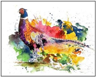 PHEASANT Watercolor Print