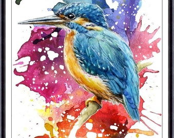 Bird Watercolor Painting Art Print  - Bird Watercolor - Bird Art - Watercolor Painting - Bird Illustration Bird Print