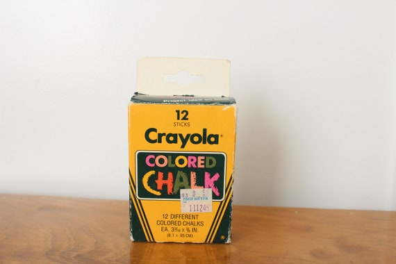 crayola colored chalk 1985 12 pack chalkboard chalk etsy