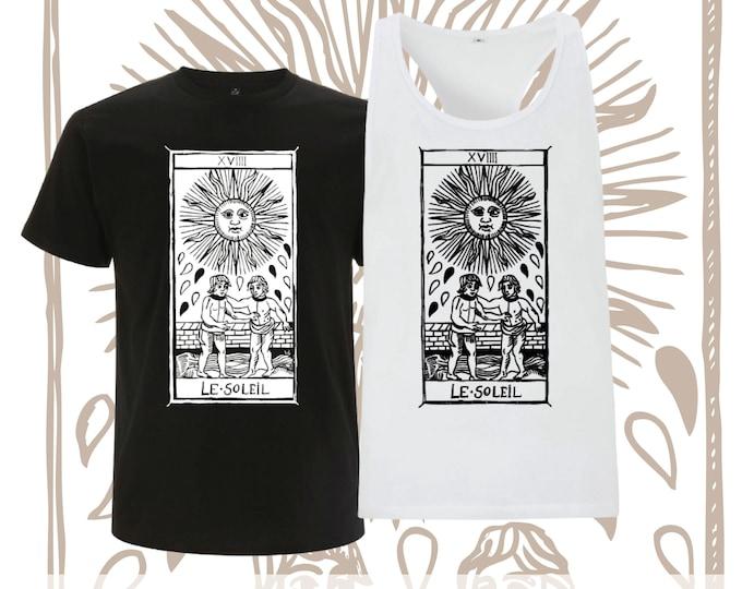 "T-shirt LE SOLEIL Tarot de Marseille"" Tarot the arcane SUN"