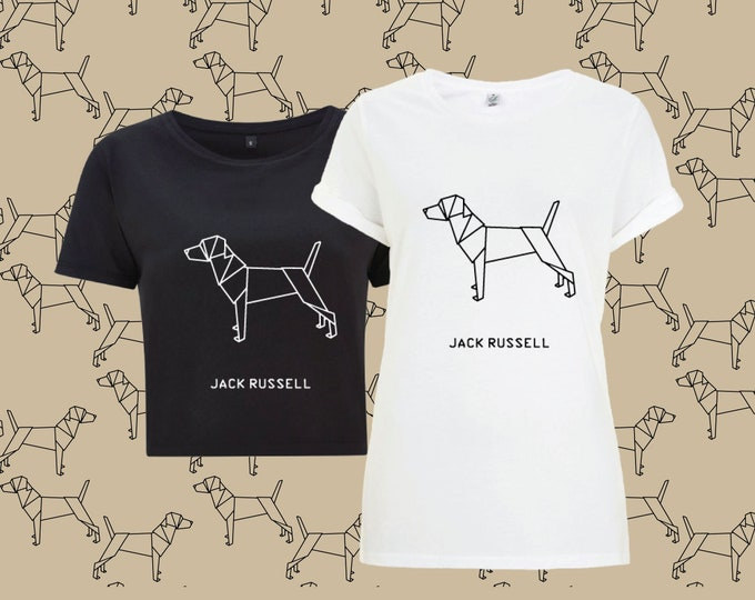 T-shirt ORIGAMI dog JACK RUSSELL