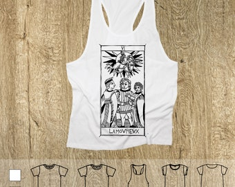 "T-shirt L'Amoreux ""Tarot de Marseille"" Tarot Lovers Cards"