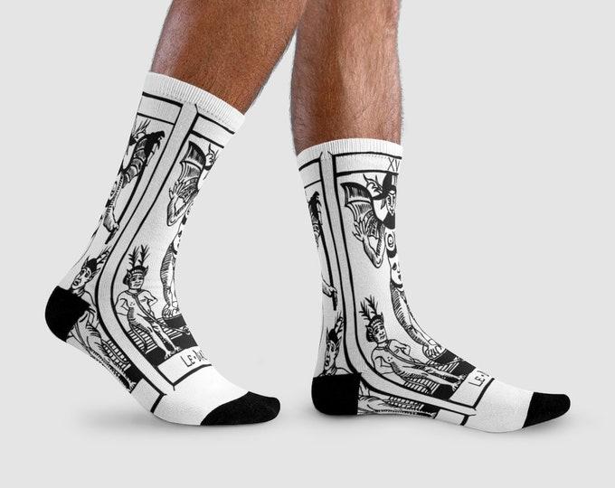 Socks calzini calze TAROT OF MARSEILLES  le diable, devil