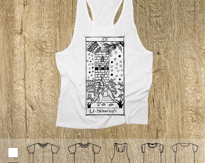 """T-shirt La Maison Dieu Tarot de Marseille"""" Tarot THE ARCAne TOWER"""