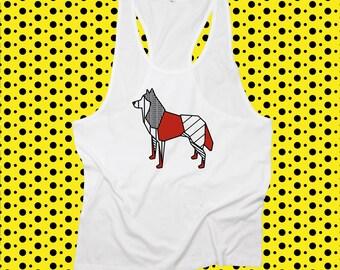 T-shirt ORIGAMI POP SIBERIAN husky