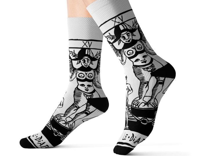 Socks TAROT OF MARSEILLES le diable devil