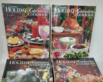 Taste Of Home Holiday & Celebration Cookbooks lot of 4 - 2001 2002 2003 2004 | Recipes for Christmas, Easter, Thanksgiving and Cookies