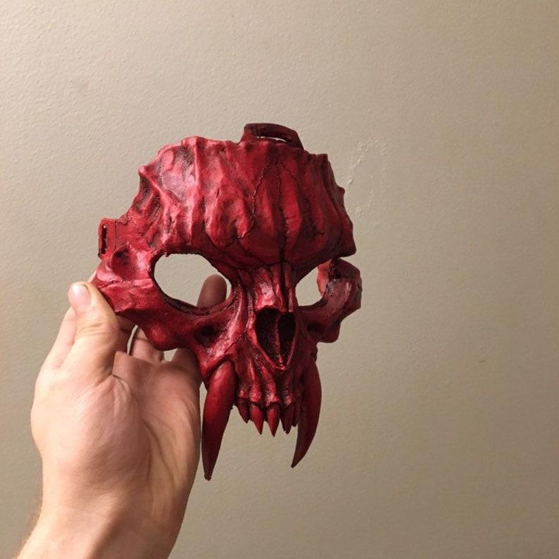 Saber Cat half mask Hard Resin Mask Cat Skull Mask Pre-Order Red death special edition