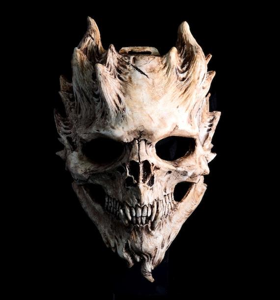 pre order bone warrior aged bone skull mask demon skull etsy
