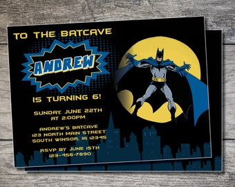 Batman birthday invitation etsy batman birthday invitation batman birthday invite boy birthday batman invitation gotham birthday party batcave birthday invitation filmwisefo