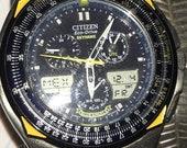 Vintage Citizen Eco Drive Skyhawk-Blue Angels watch
