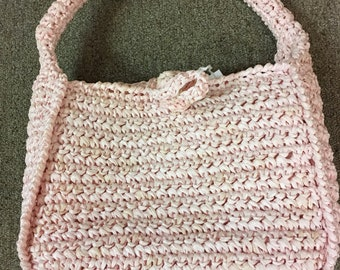 Vintage Heavy Woven Pink Purse