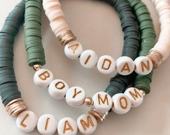 letter bracelet bead
