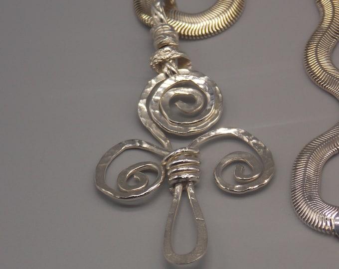 Celtic trikele spiral necklace. Spiral of life necklace