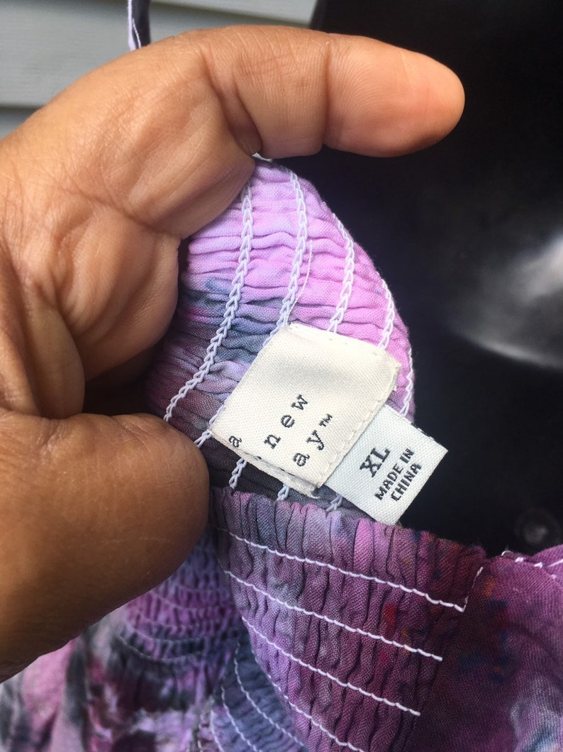 brand name A new day Xlg  A new day dress ice dyed in black cherry with pockets