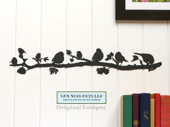 025 Beautiful Birds on Tree Branches Acrylic Hanging Modern Wall Art Decor