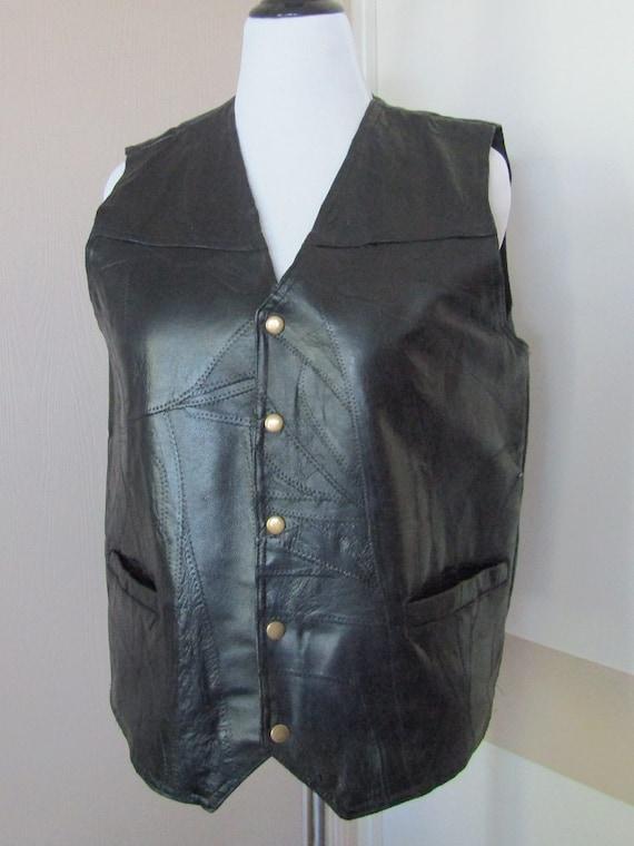 Italian Stone Leather Vest Mens size Large