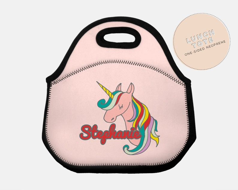unicorn lunch bag, rainbow, back to school, unicorn lunch box, personalized  girl lunch box, lunch box,