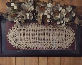 Crocheted Names- price is per letter not per name- please read description below.