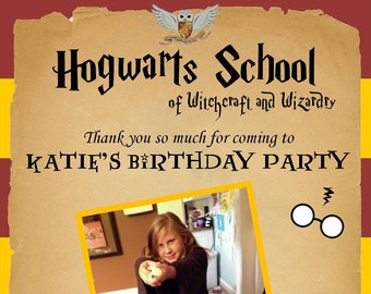 Harry Potter Birthday Thank You
